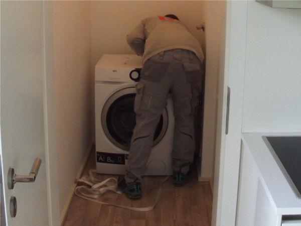 Montage Waschmaschine
